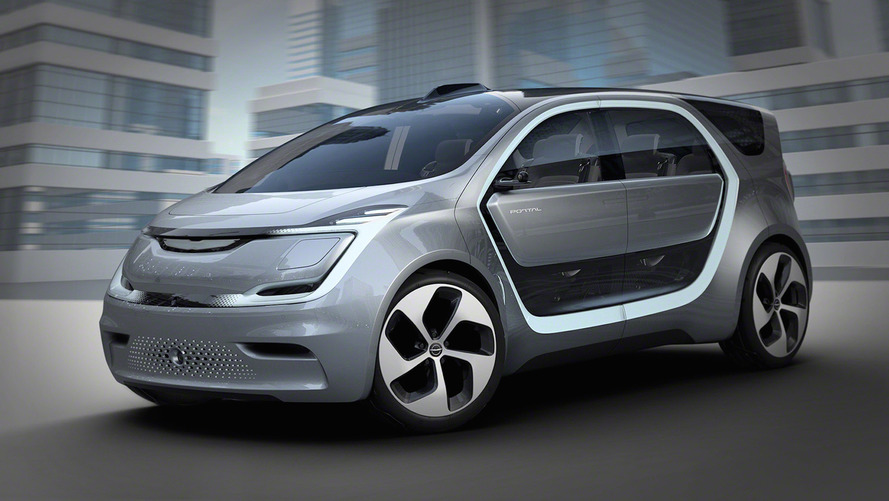 Autonomous Chrysler Portal concept can recognize your face