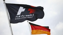 F1 and German flags