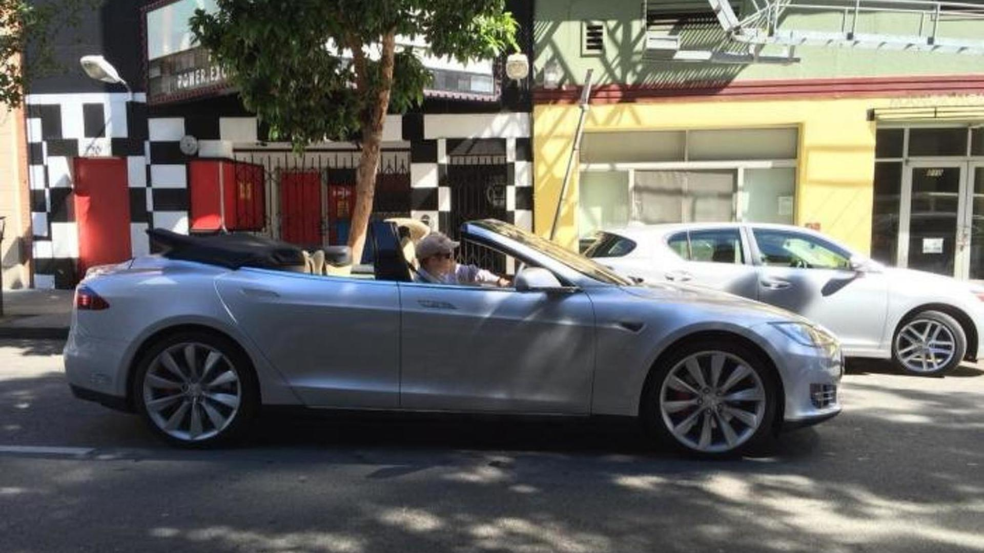 Tesla Model S Convertible listed on eBay for $125,000