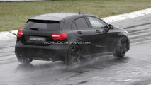 Mercedes A25 AMG spied with minimal camouflage