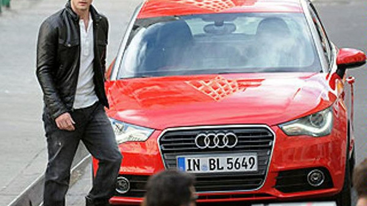 Justin Timberlake filming commercial in Los Angeles for 2011 Audi A1