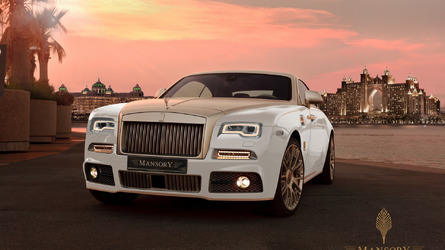 Mansory uses gold to make Rolls-Royce Wraith more opulent