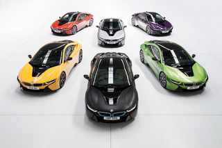 Drive the Rainbow With New BMW i8 Colors Purple, Yellow, and Green