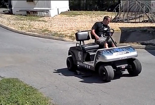 Watch A V8-Powered Golf Cart Blast Through 18 Holes