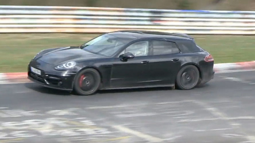 Next Porsche Panamera and Shooting Brake exercise at the 'Ring