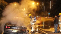 Ferrari 360 fire in Hong Kong