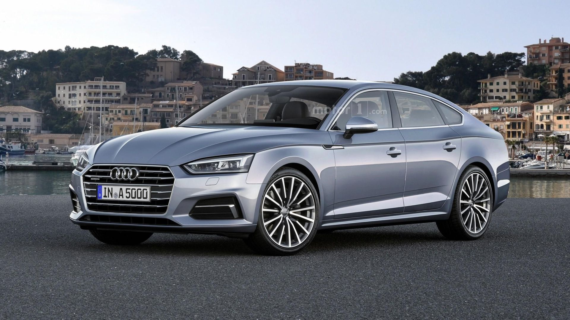 2018 Audi A5 Sportback Rendered on model a car door