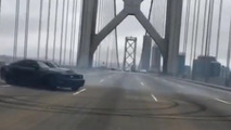 San Francisco Bay Bridge doughnuts end with arrest and impounded Mustang