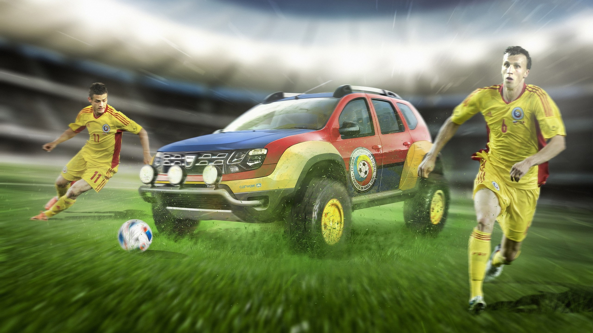 Euro 2016 teams get matching cars just for fun