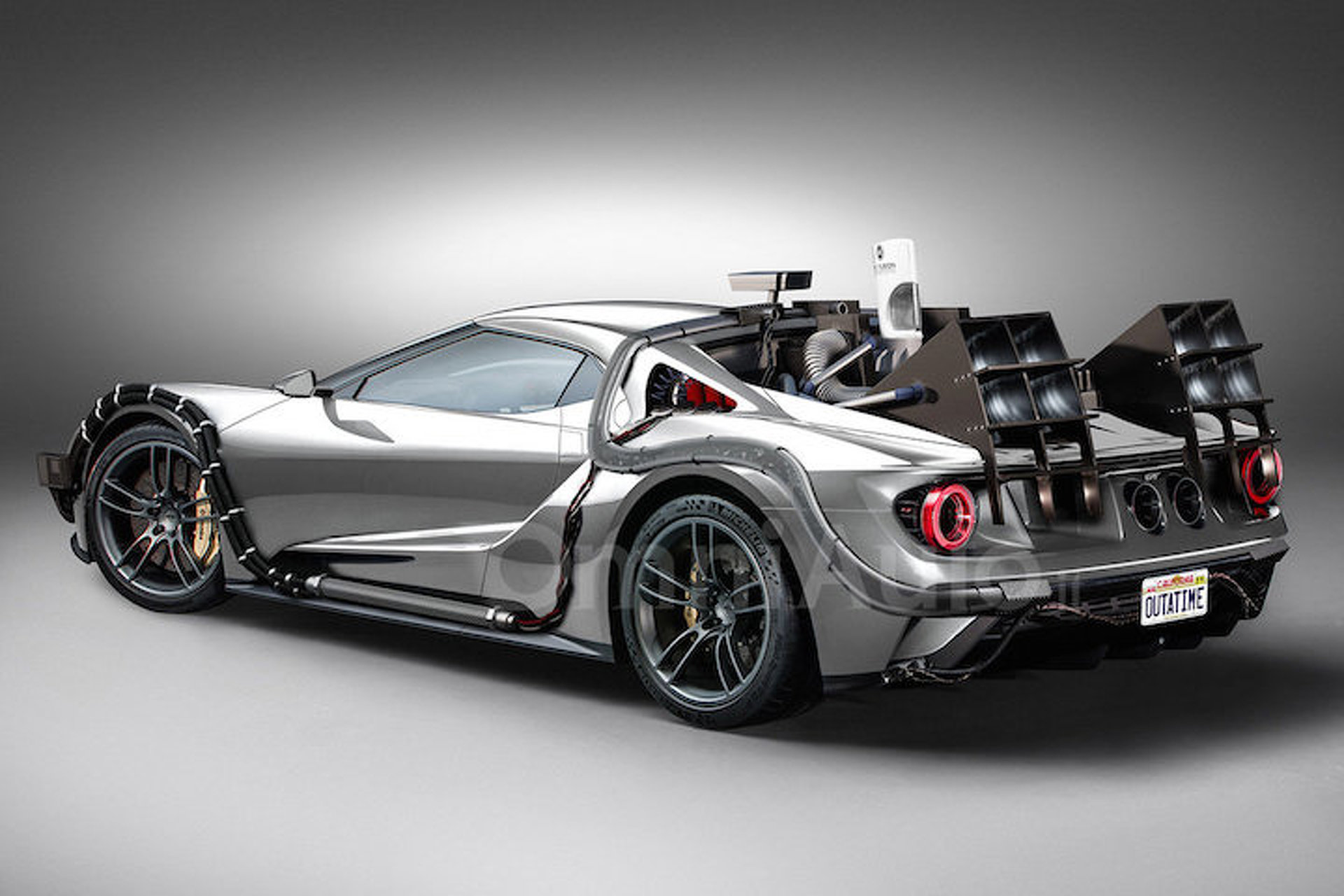 """This """"Back to the Future"""" Ford GT is Definitely Quicker than 88 MPH"""