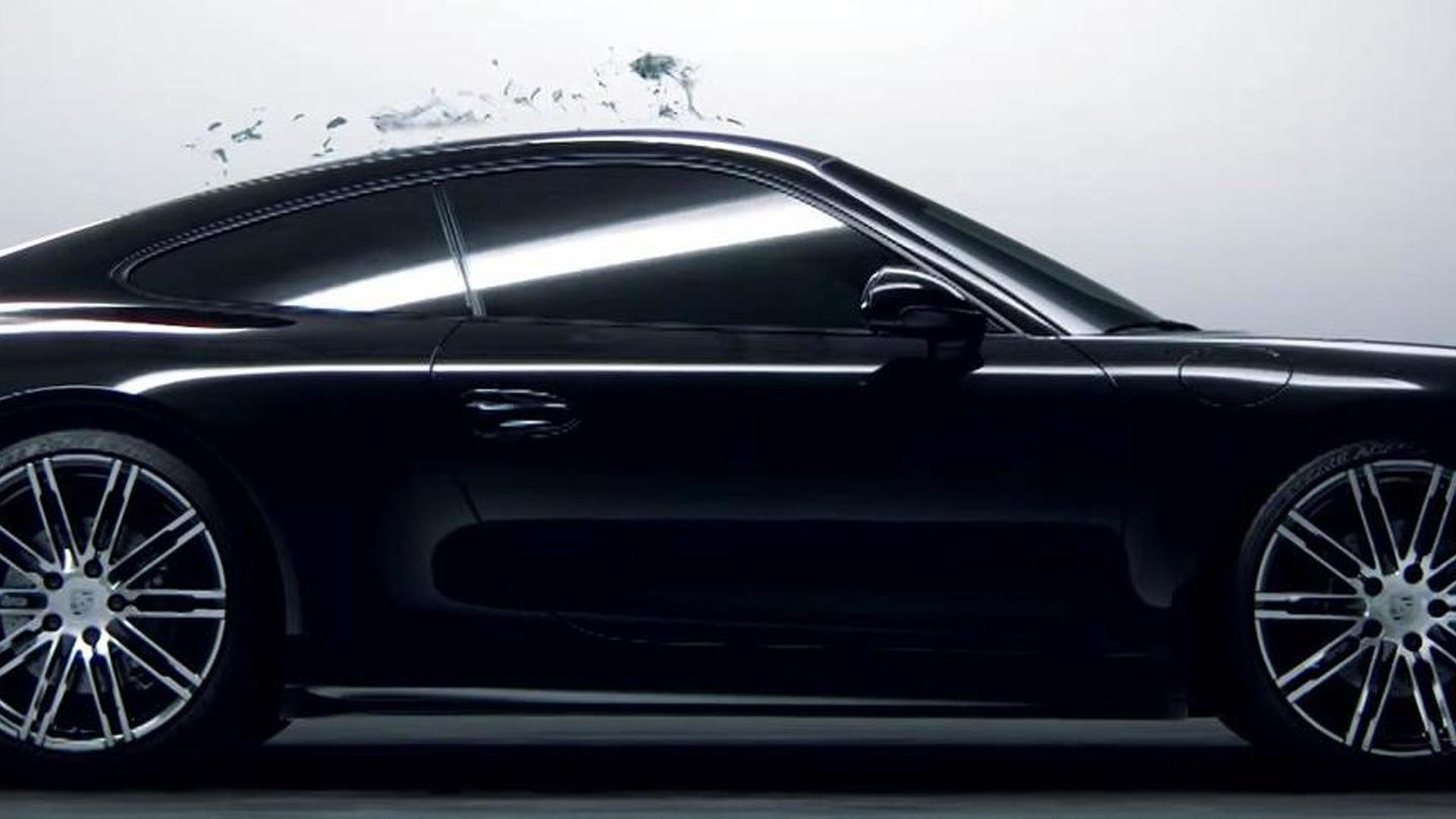 porsche 911 black edition comes to life from black ink in latest promo video product 2015 07 27 162855 - Porsche 911 2015 Black