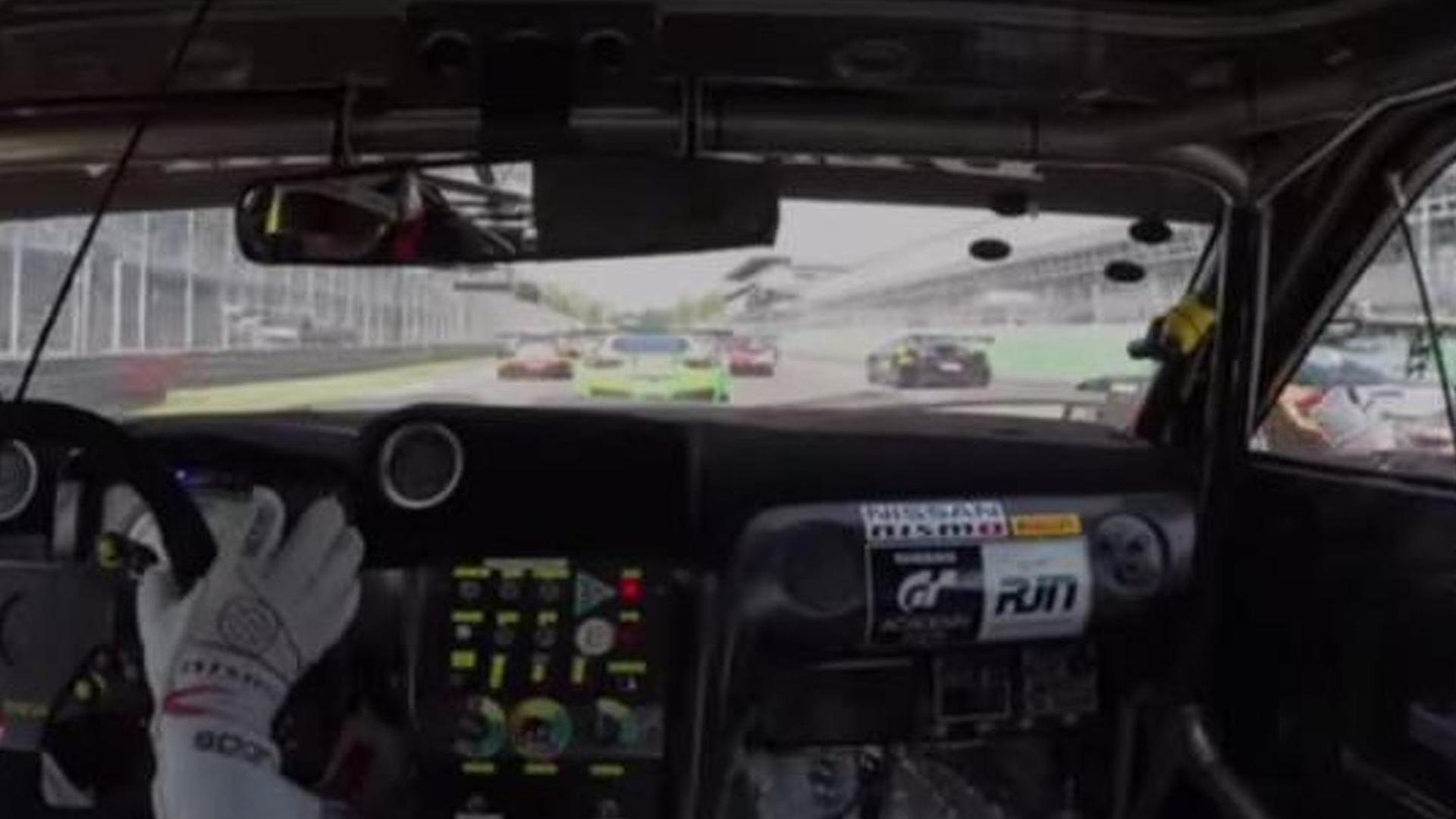 Nissan GT-R Nismo GT3 overtakes 17 cars in one lap at Monza [video]