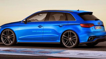 Audi A3 Clubsport Quattro concept rendered in RS3 three-door and Sportback flavors