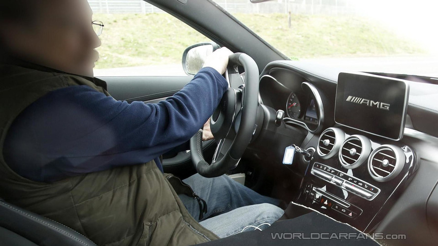 2015 Mercedes-Benz C63 AMG spied up close inside and out