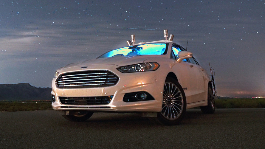 Ford Fusion Hybrid autonomous research vehicle begins testing at night