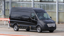 2018 Mercedes-Benz Sprinter spied with camouflaged face