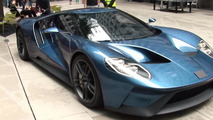 Ford GT concept with covered badge displayed in London, nobody can identify it [video]
