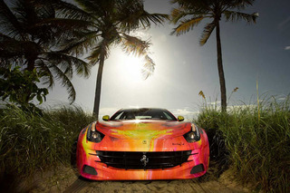 French Artist Turns $300K Ferrari FF into a Work of Art