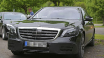 Mercedes S Class facelift spy photo