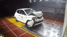 Lancia Ypsilon Euro NCAP crash test ends with two-star rating and fire