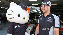Sergio Perez, Sahara Force India F1 with Hello Kitty
