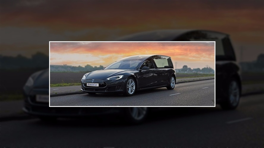 Company reveals world's first Tesla hearse