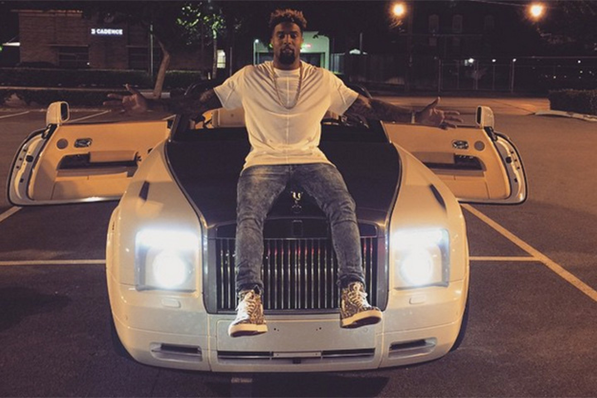 Odell Beckham Jr. and His Rolls-Royce Phantom Drophead Coupe Compare Wingspans