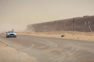 A Desert Version of the Classic Bentley Blue Train Race