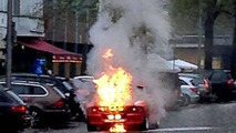 German TV star escapes flaming Shelby Mustang GT500