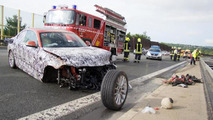 BMW 2-Series Coupe wrecked on the Autobahn during testing