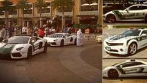 Lamborghini Aventador, Lamborghini FF, Chevrolet Camaro Dubai Police Fleet 06.05.2013