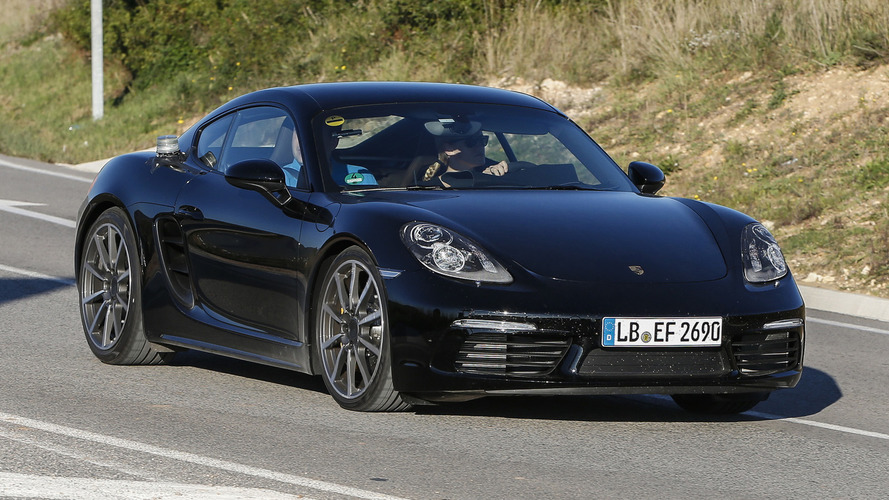Porsche Cayman facelift spied virtually undisguised