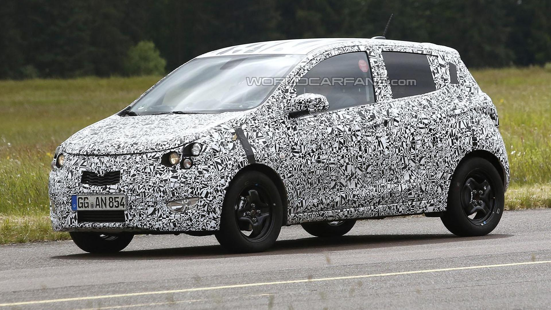 2015 Opel Agila spied with slightly sportier styling