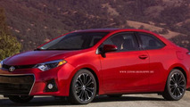 2014 Toyota Corolla rendered as a coupe