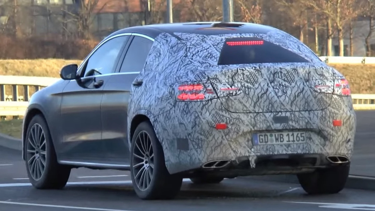 Mercedes-Benz GLC 450 Coupe screenshot from spy video