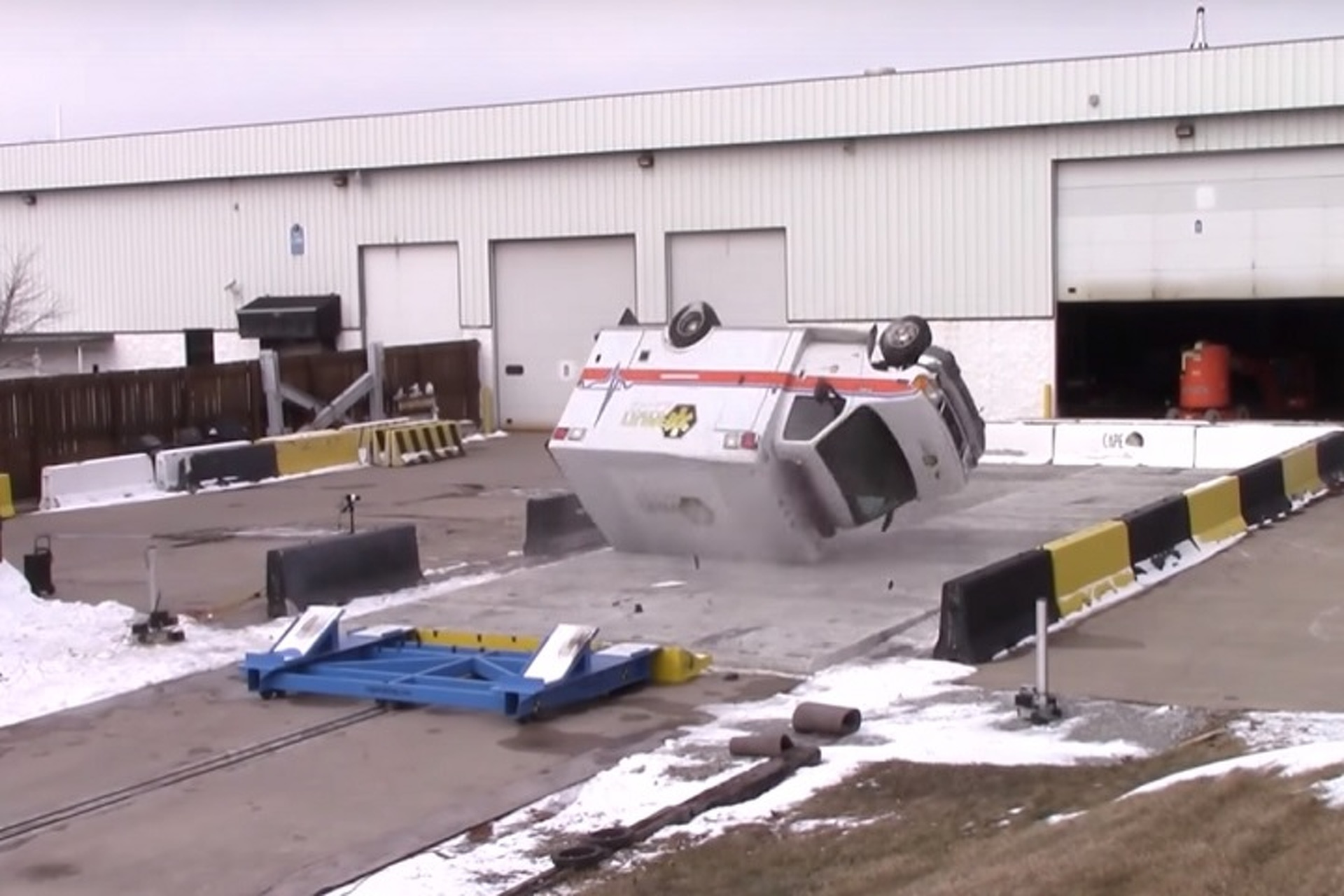 Watch This Wild Ambulance Rollover Test