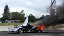 1995 McLaren F1 destroyed in fire