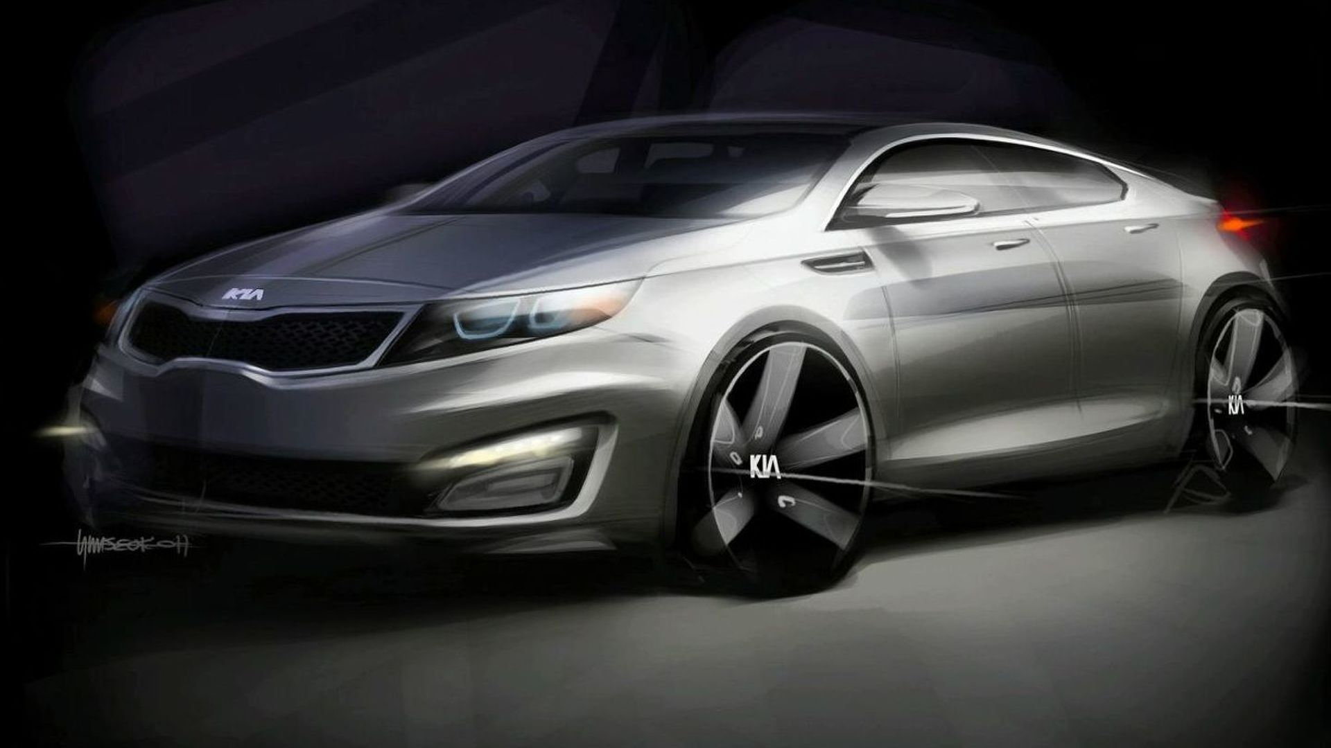 2011 Kia Magentis / Optima Teaser Sketches Released for New York Debut