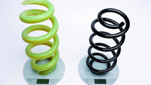 Audi FRP coil spring comparison to normal spring 01.03.2012
