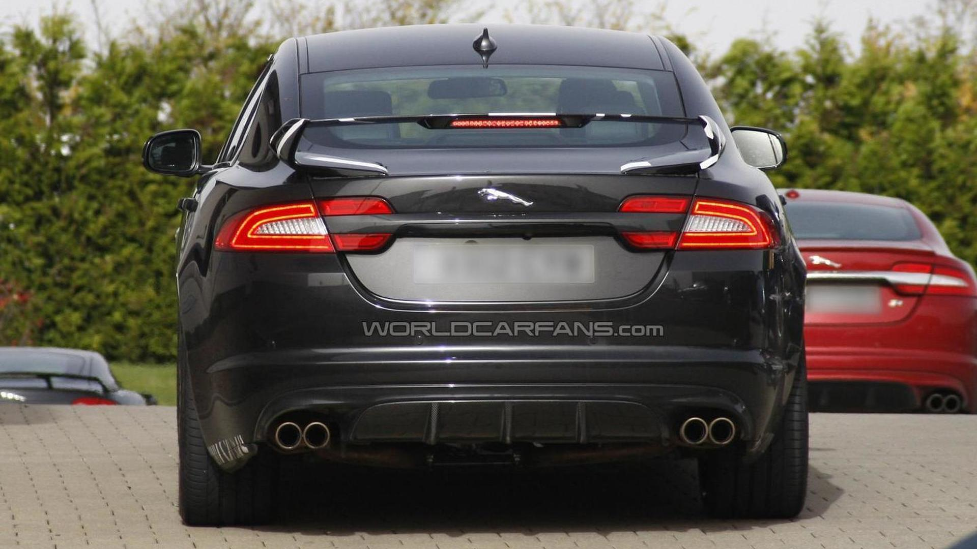 Jaguar XFR-S spied with a large rear wing