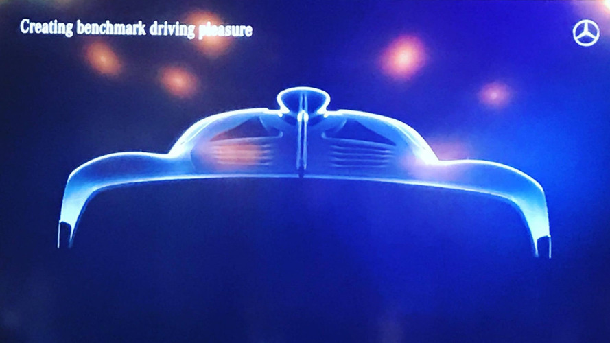New photo of Mercedes-AMG hypercar snapped during presentation
