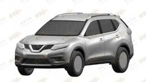 Next-gen Nissan X-Trail revealed through patent photos