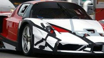 Camoflaged Ferrari FXX Spotted on Public Roads