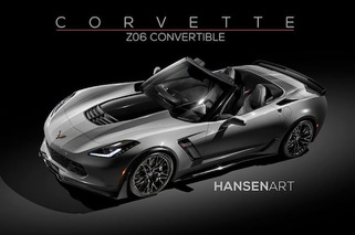 Stunning Corvette Z06 Convertible Rendered