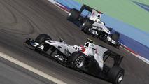 Broken front wings for Kobayashi in practice
