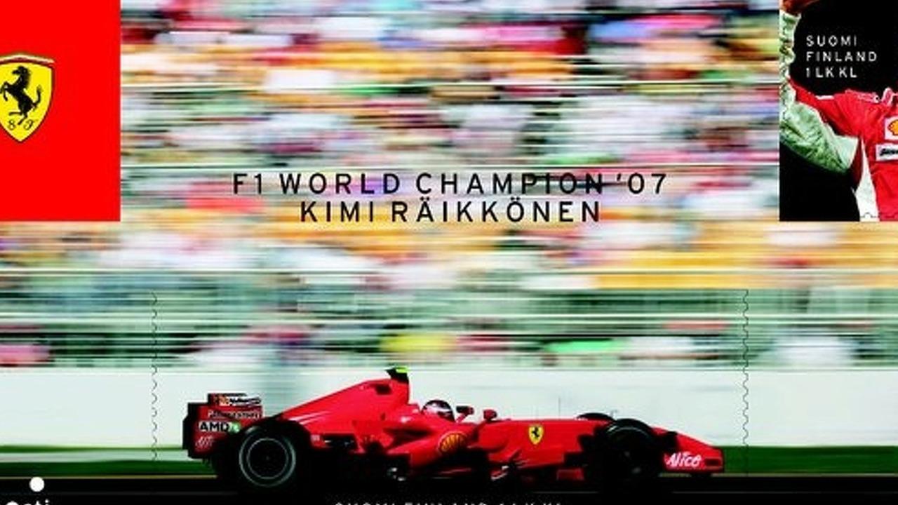 Kimi Räikkönen posti stamp