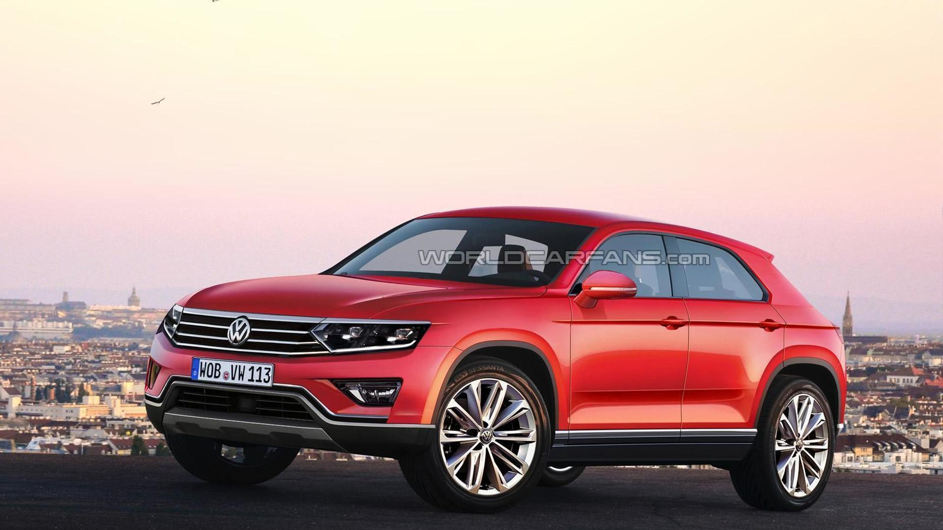 Volkswagen Tiguan CC rendered, could arrive in 2016