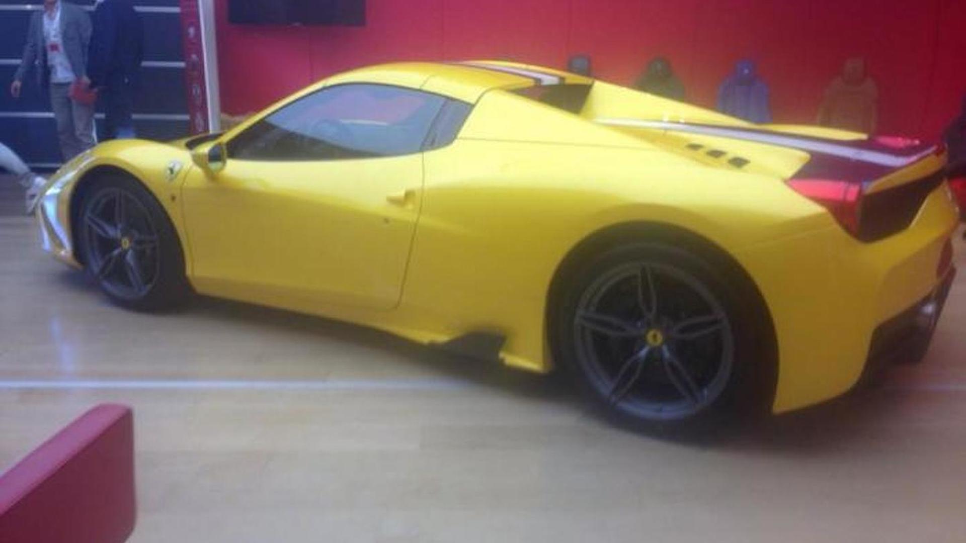 Ferrari 458 Speciale Spider photographed undisguised in Maranello