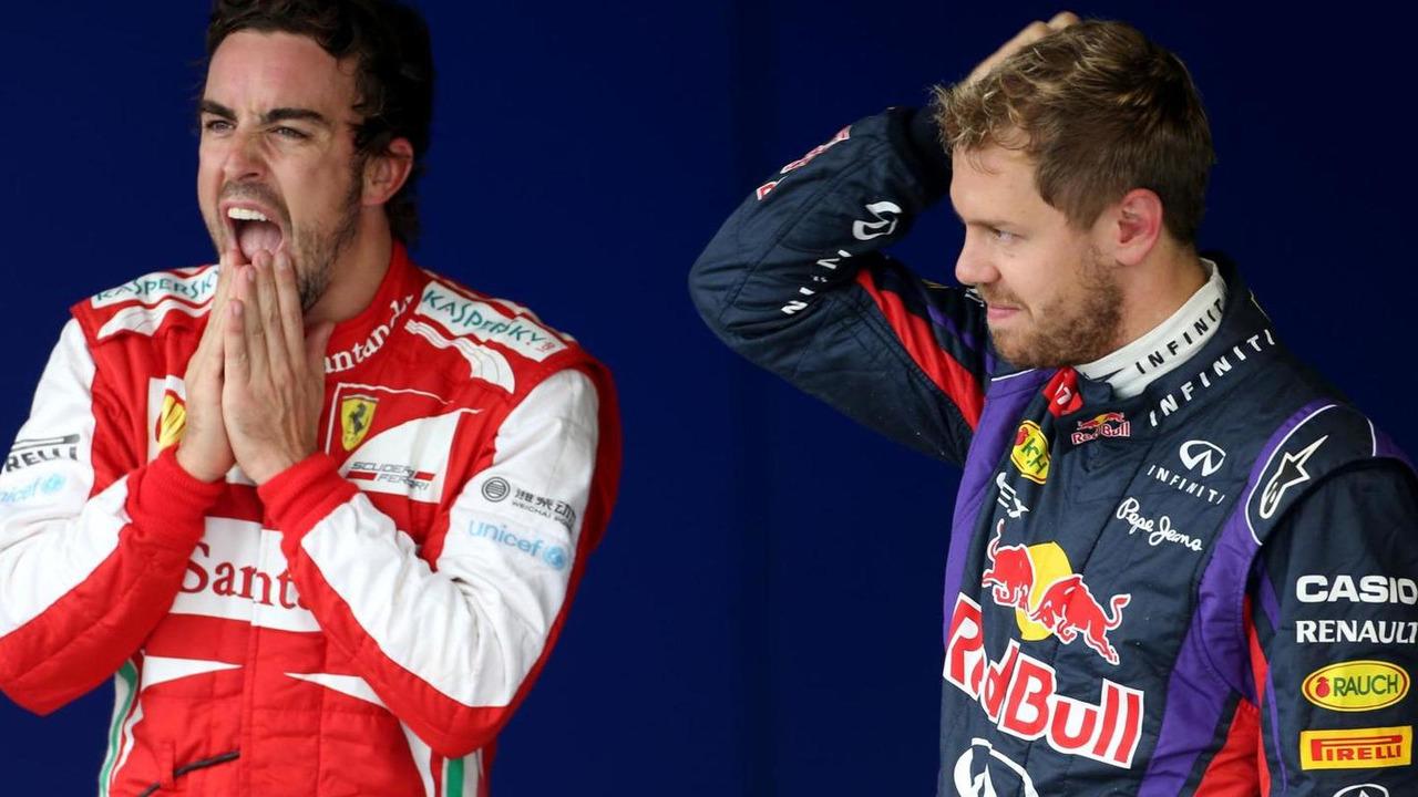 Fernando Alonso and Sebastian Vettel 23.11.2013 Brazilian Grand Prix