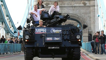 A Press Launch Top Gear Style: Ride Through Town in a Tank
